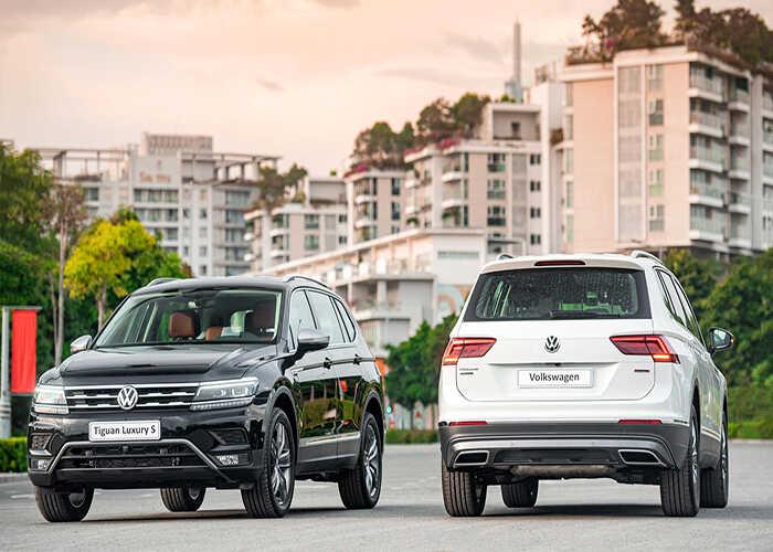 so sánh Vinfast Lux SA2.0 và Volkswagen Tiguan