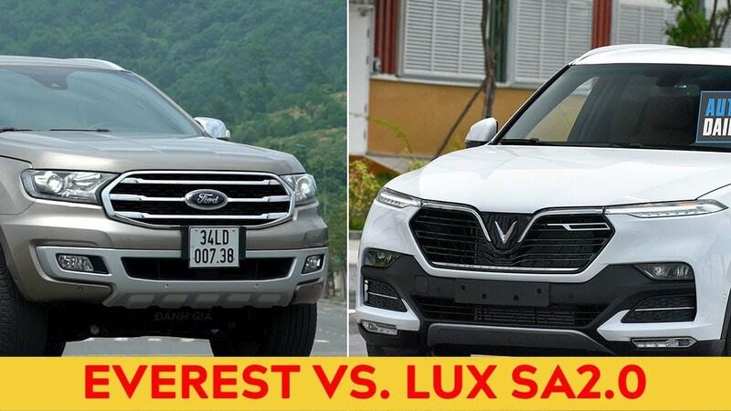 so sánh Vinfast Lux SA2.0 Và Ford Everest