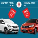 Người mua cần biết những gì khi so sánh VinFast Fadil và Honda Brio?