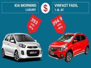 So sánh về giá bán của xe VinFast Fadil và Kia Morning