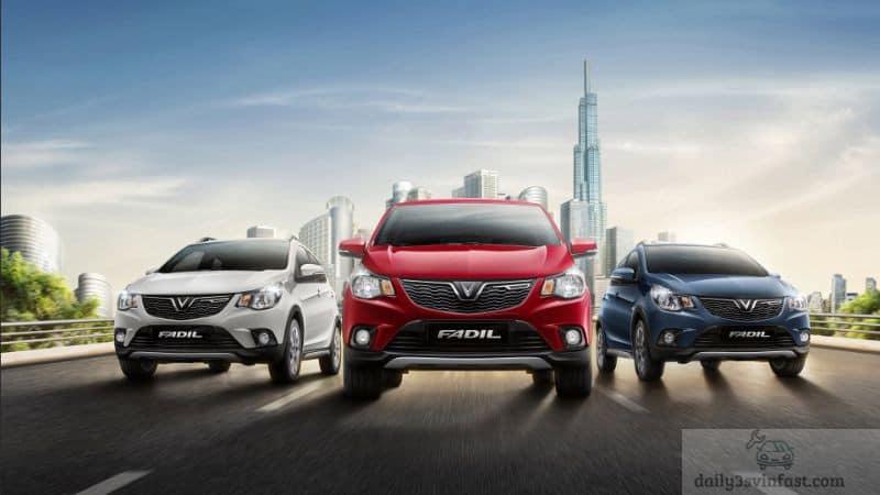 Dòng xe Vinfast Fadil được chia thành nhiều phiên bản với mức giá hợp lý