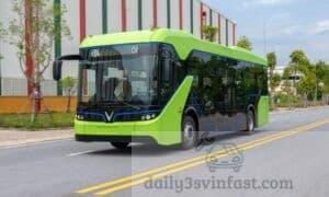 Thiết kế của xe bus điện Vinfast vô cùng mới lạ, thu hút