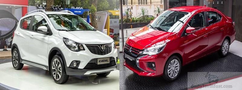 so sánh Vinfast Fadil và Mitsubishi Attrage
