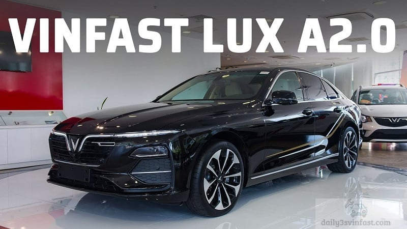 VinFast Lux A2.0 có kích thước nhỉnh hơn Mercedes C200