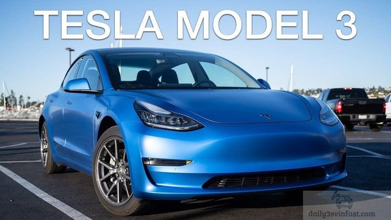Xe Vinfast VFE34 và Tesla Model 3 có nhiều điểm tương đồng về kích thước, dung lượng pin