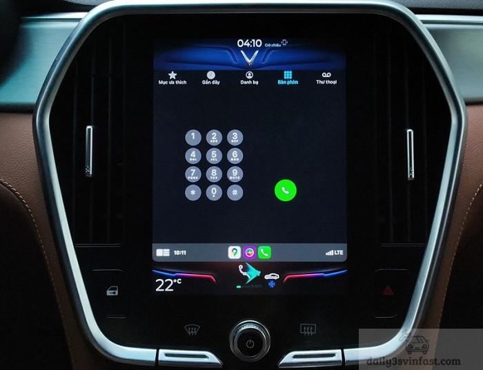 Giúp đàm thoại rãnh tay khi sử dụng Apple Carplay VinFast