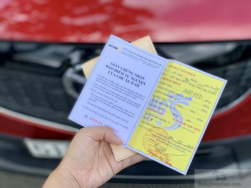 bảo hiểm không thể thiếu trên xe ô tô VinFast