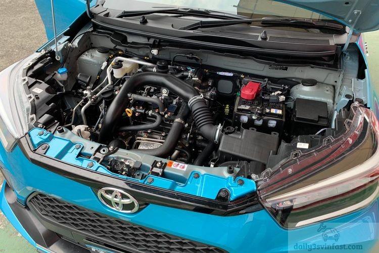 Toyota Raize 2022 trang bị động cơ tăng áp 1.0L