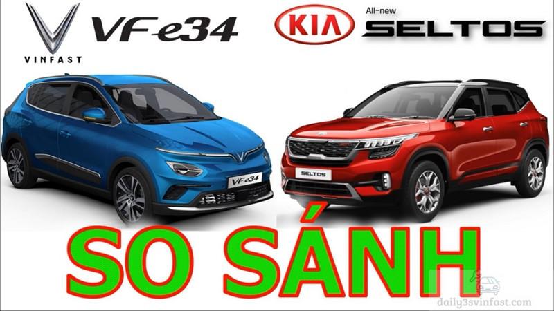 so sánh VinFast VF e34 và Kia Seltos