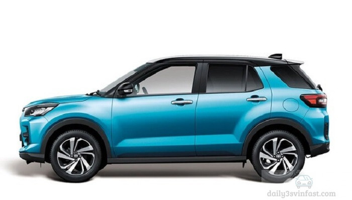 Phần thân xe Toyota Raize 2022