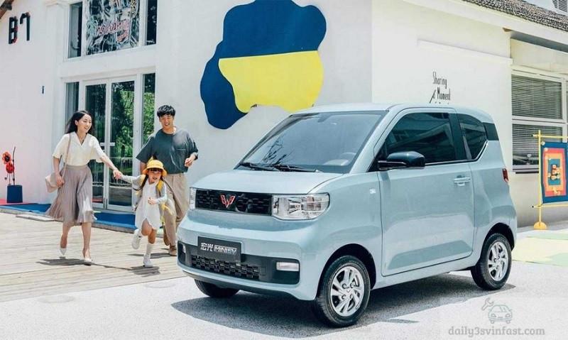 Mẫu ô tô điện Wuling Hongguang Mini EV có giá chỉ bằng 1/10 so với mẫu xe điện mang thương hiệu Mỹ.