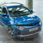 Say ngắm VinFast VF e34 màu xanh Future Blue đặc trưng dòng xe điện
